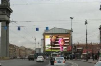 Медиафасад в Санкт-Петербурге на Московском проспекте