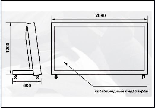 Универсальное табло для единоборств «НАТА 20/96х48»