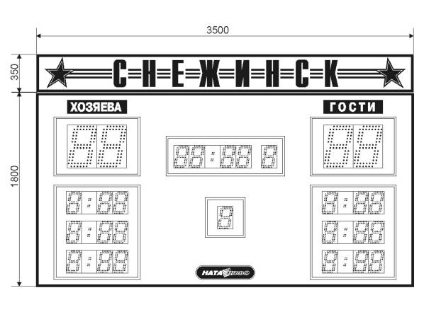 Информационное табло для спортивных игр «НАТА 1940»
